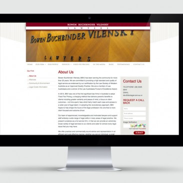 Bowen Buchbinder Vilensky Lawyers - Website Design