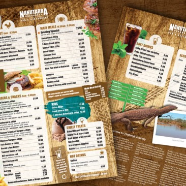 Nanutarra Roadhouse: Menu design