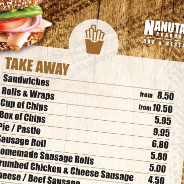 Nanutarra Roadhouse: Take away menu design